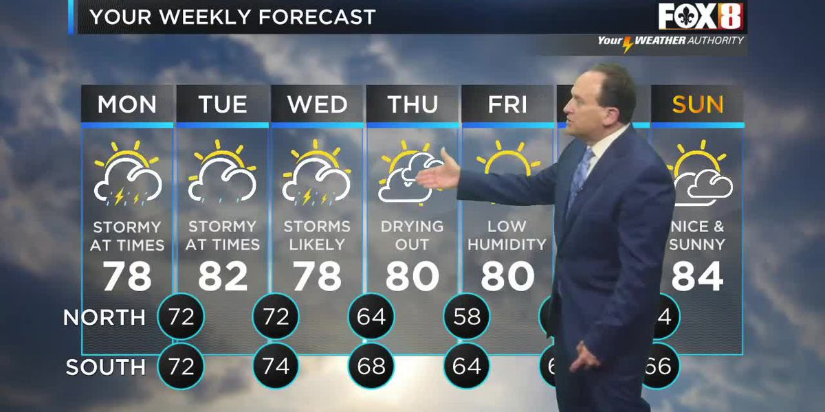 FORECAST: Mon., May 10 - Rain and storms will continue in rounds through the early afternoon