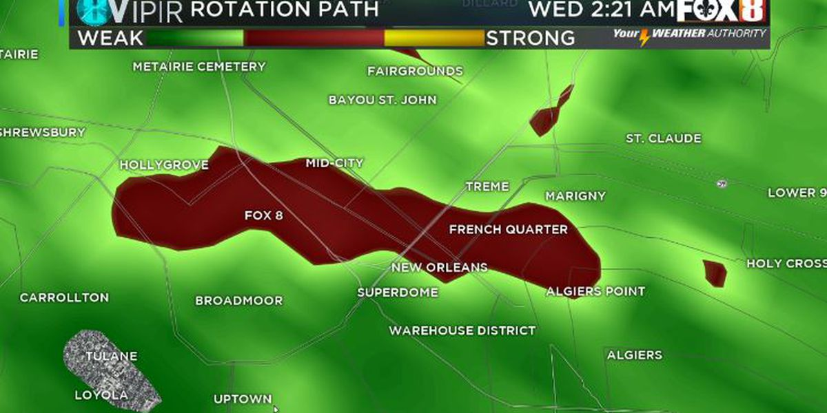 Bruce: Possible tornado causes damage in the uptown and Algiers on the westbank