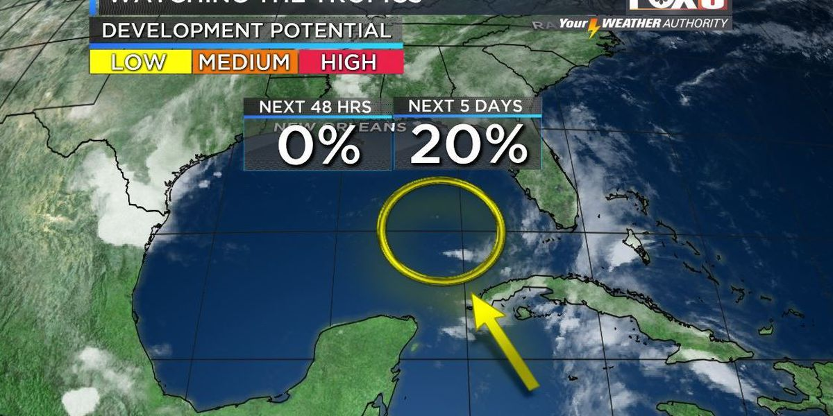 Weekend rain chances increase with possible development in the Gulf