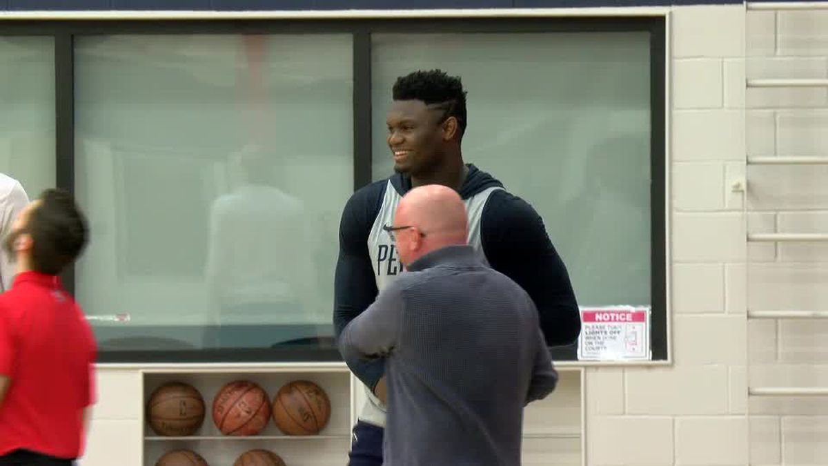 Pelicans' Zion Williamson now in full-court, 5-on-5 drills