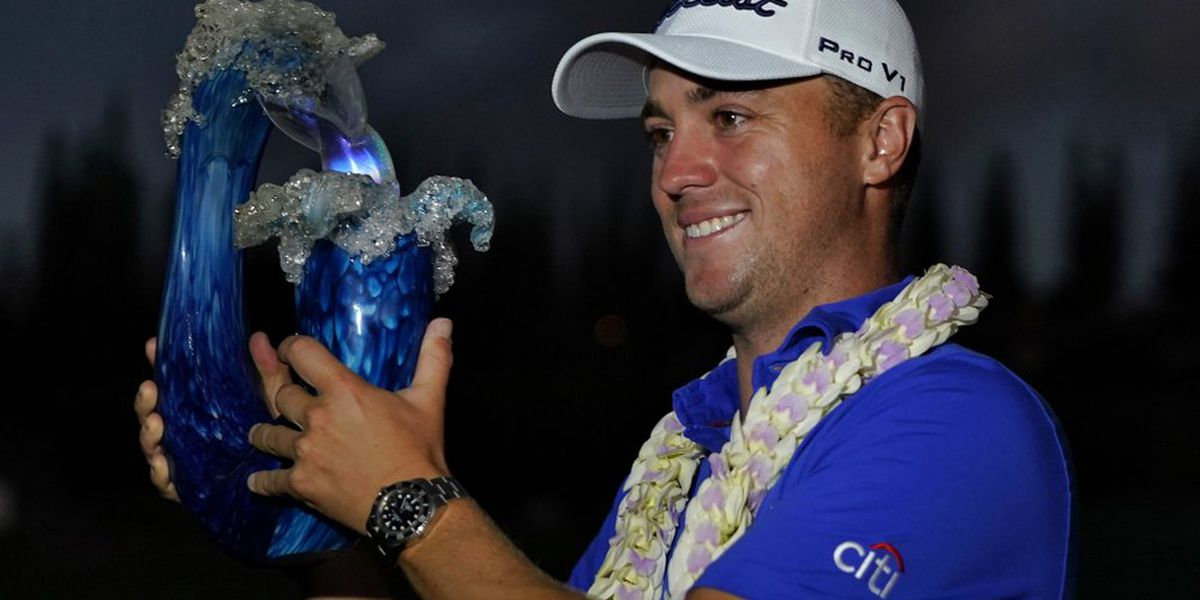 Justin Thomas hangs on to win Kapalua in a playoff