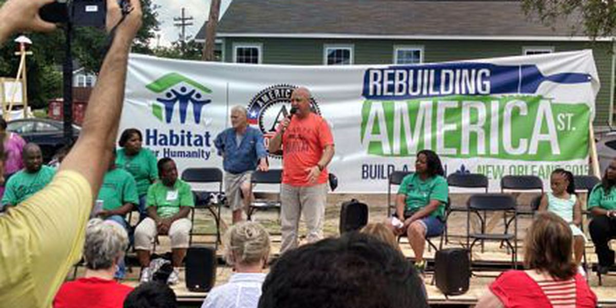Ten families receive new homes after Habitat for Humanity build a thon