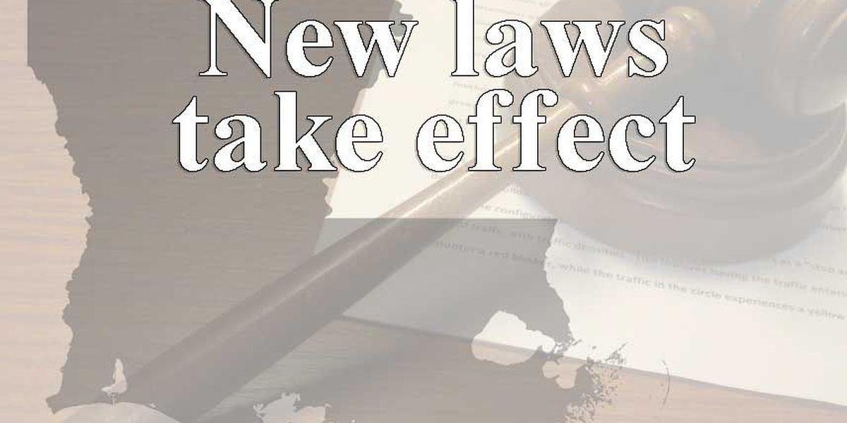 New Louisiana laws take effect Wednesday
