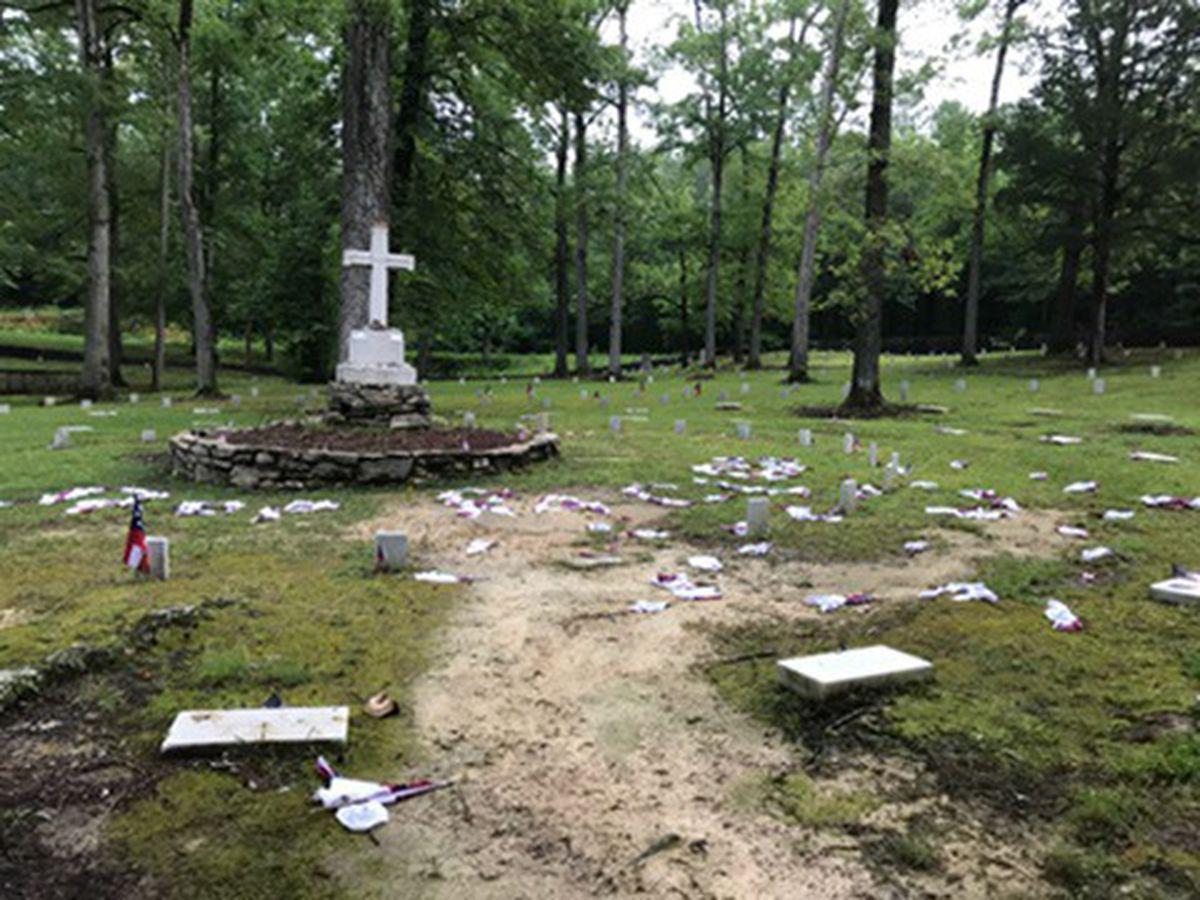 Georgia Confederate cemetery vandalized