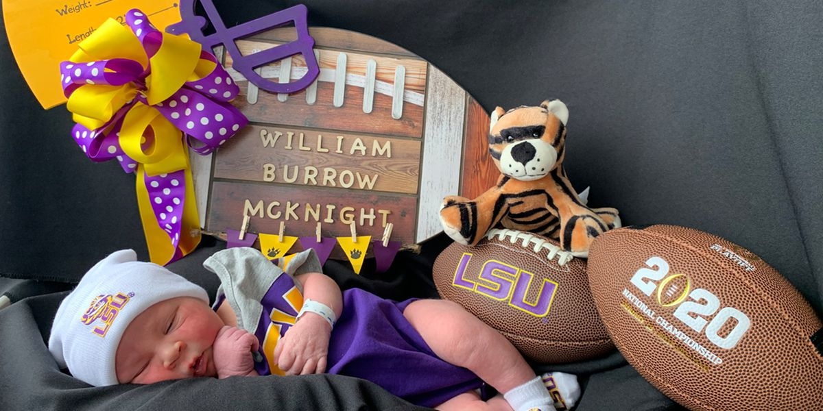 Baby named after Joe Burrow delivered at Ochsner Medical Center - Baton Rouge