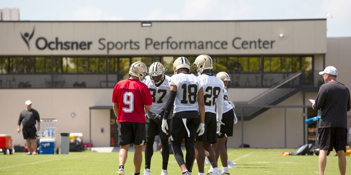 Saints wrap up week 1 of OTA's on Airline Drive