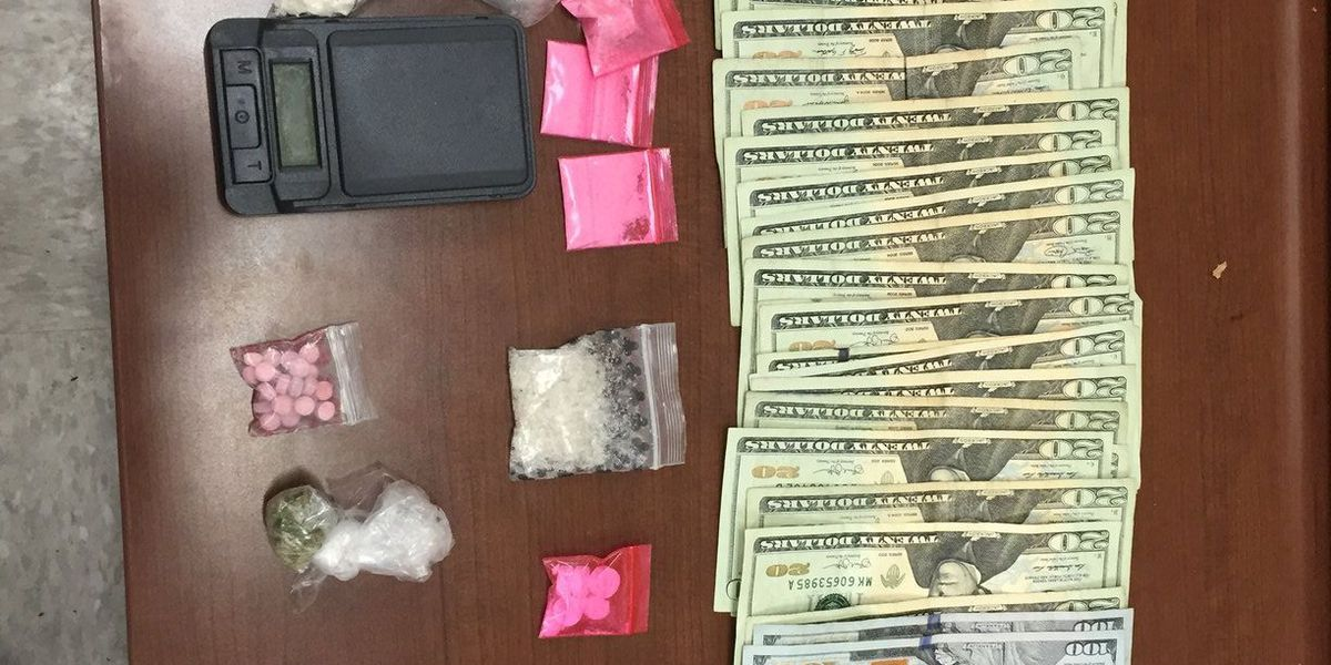 4 arrested with an alleged stash of drugs, gun