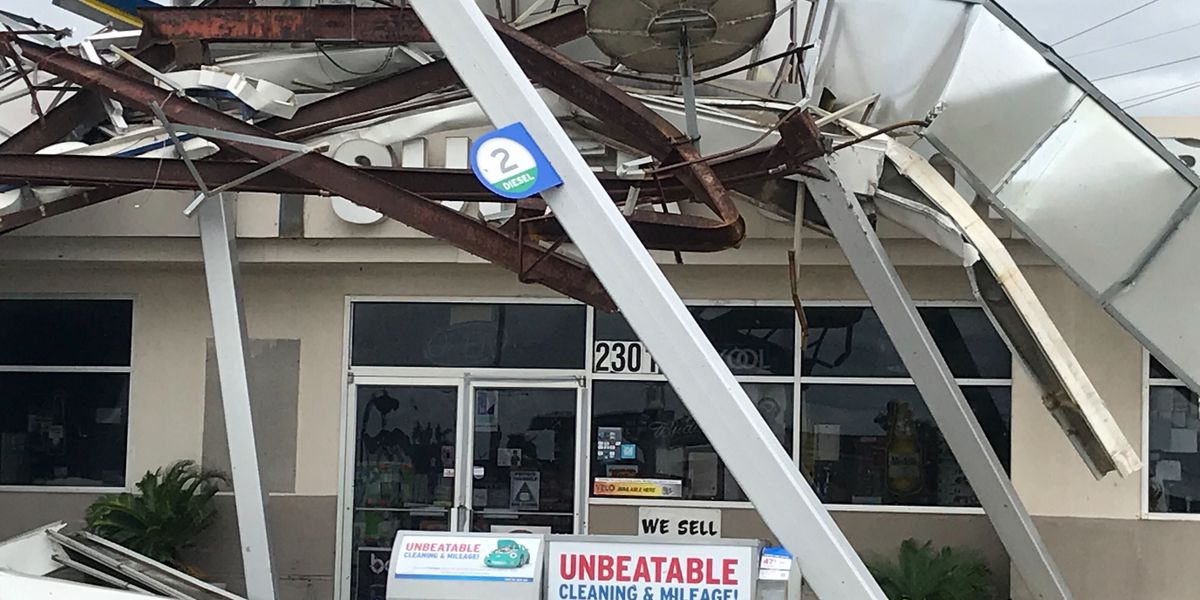 Hurricane Laura's damage