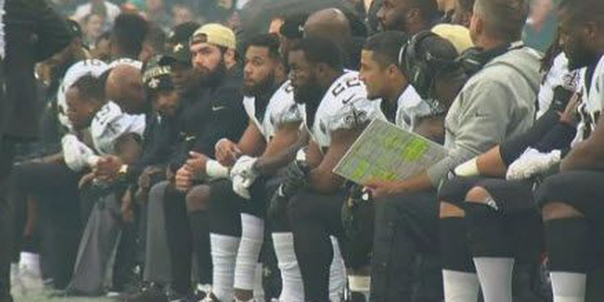 Man files lawsuit against Saints over national anthem protests