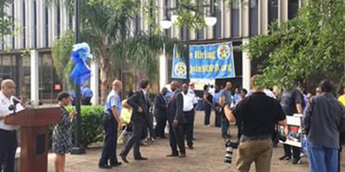 Dozens of crime victims hold vigil at NOPD headquarters
