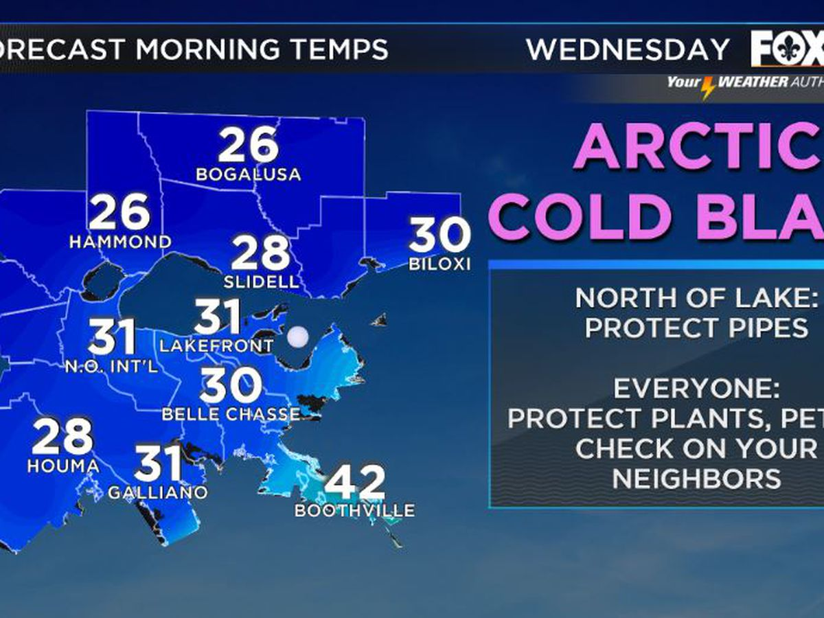 Temperatures to plunge as Arctic air dives south