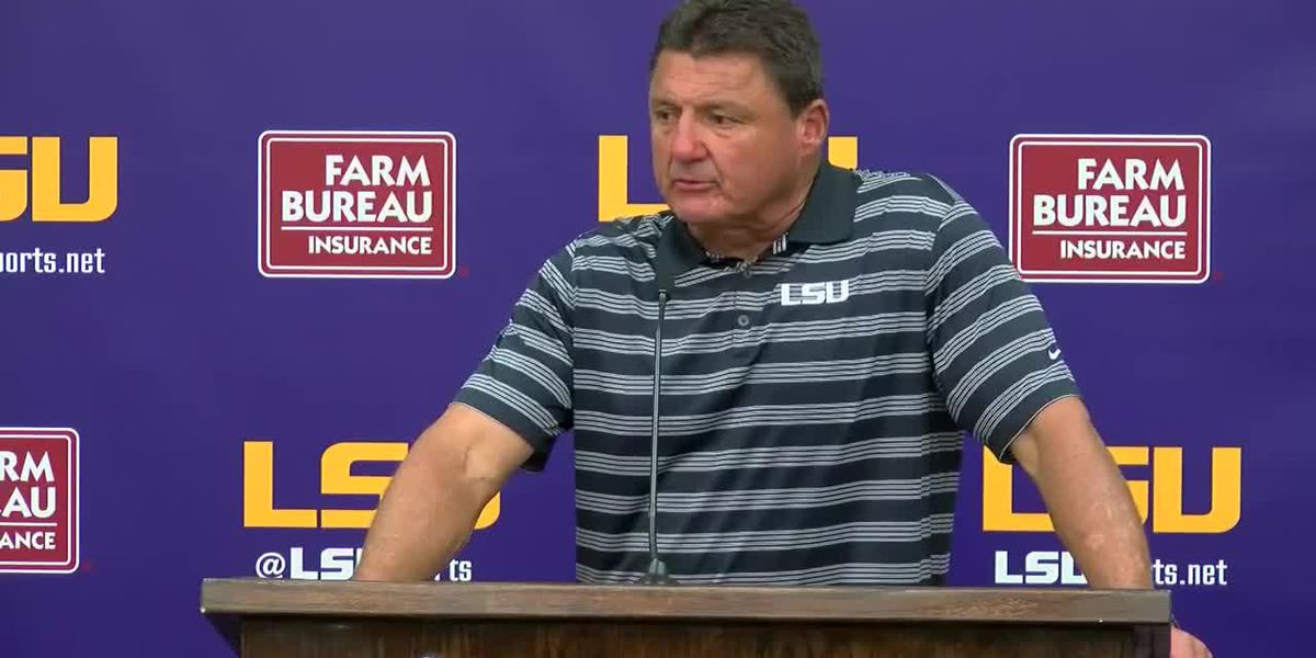Coach O talks about first LSU football scrimmage