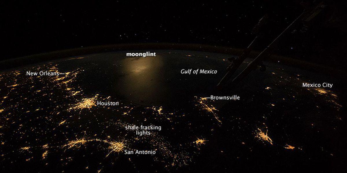ISS photo captures light patterns of Gulf coast cities