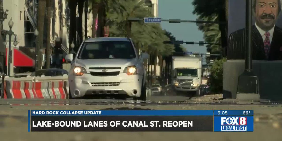 Canal Street reopened