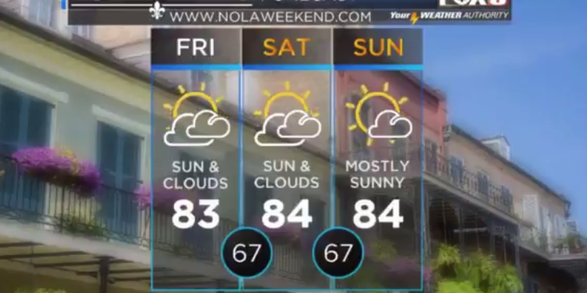Temperatures in the 80s for first week of November