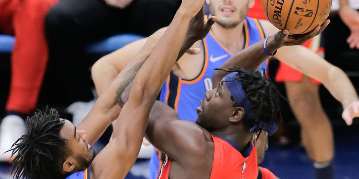 Pelicans beat red-hot Thunder, get back to .500 for the season
