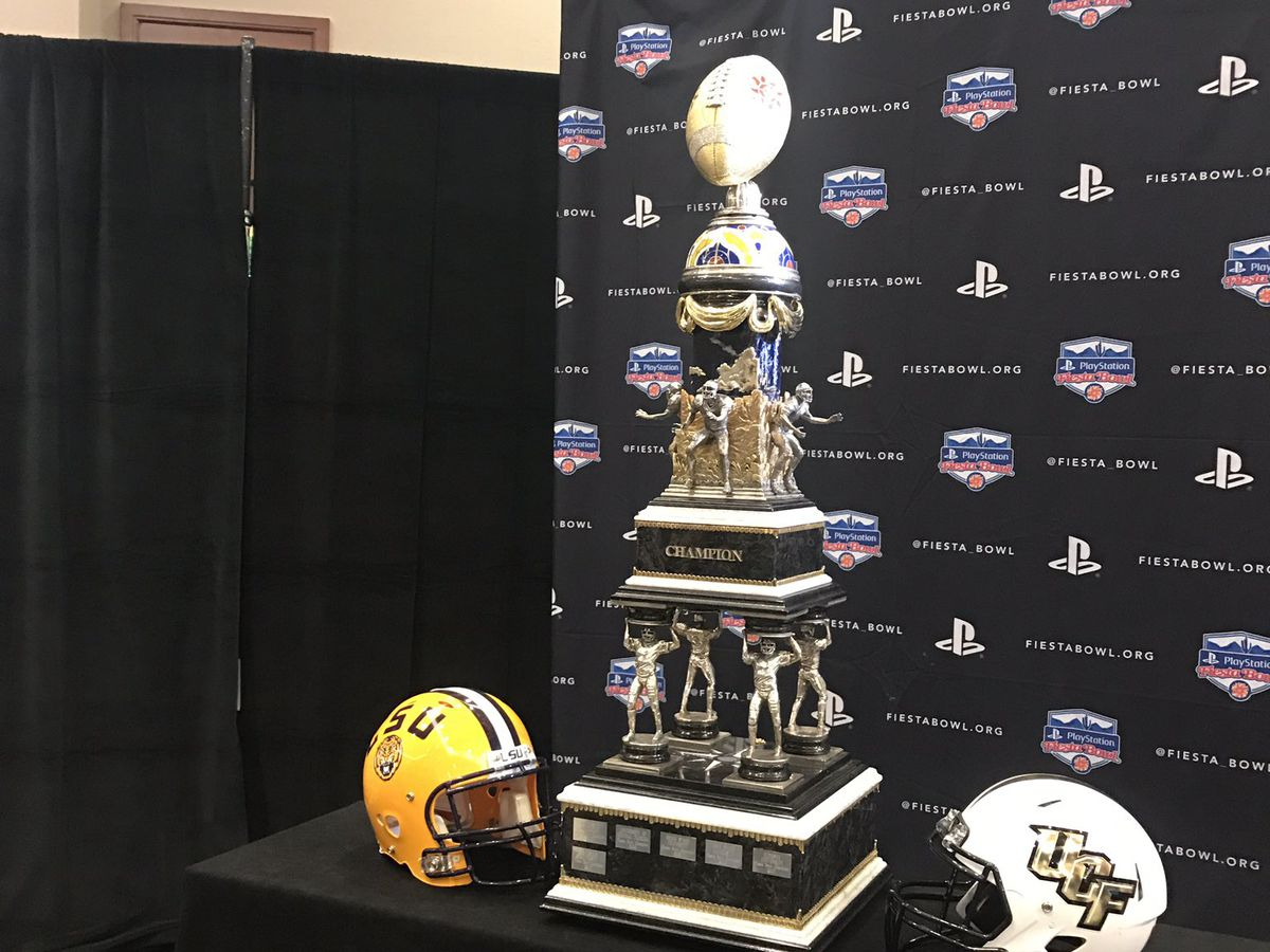 LSU Tigers face UCF Knights in Fiesta Bowl