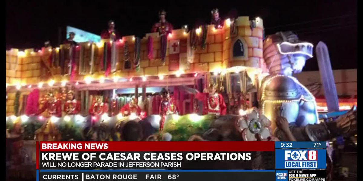 Jefferson Parish's biggest parade, Caesar, to stop rolling