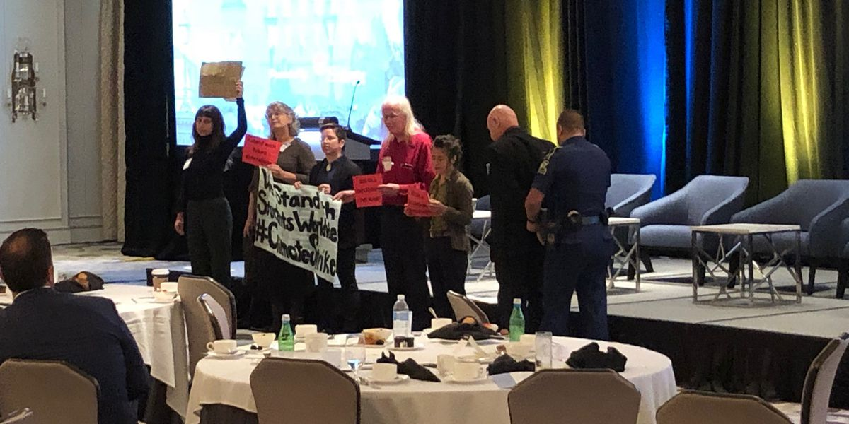 Protesters disrupt meeting of oil executives in downtown N.O.