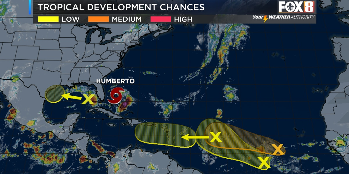 Peak Season: Five areas being watched by the hurricane center
