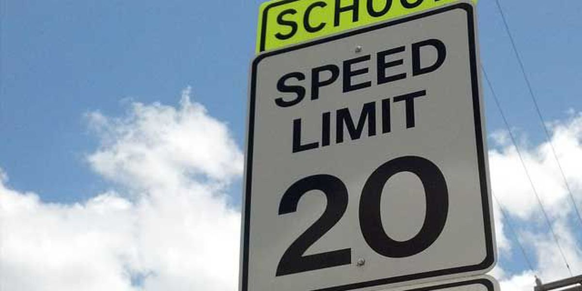 Fines for speeding in school zones vary by parish