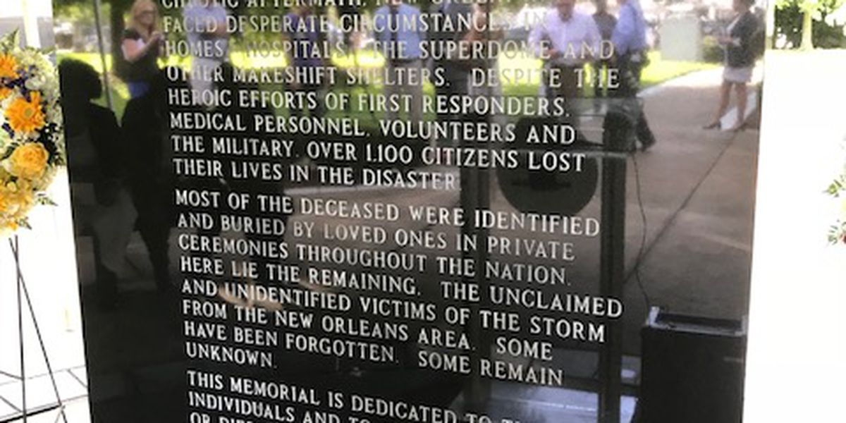 Memorials planned for 13th anniversary of Katrina