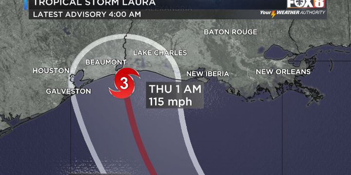 10 a.m. UPDATE: Laura a Category 1 hurricane; expected to intensify into major storm