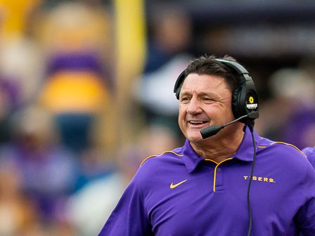 LSU Coach Ed Orgeron press conference previewing Ole Miss