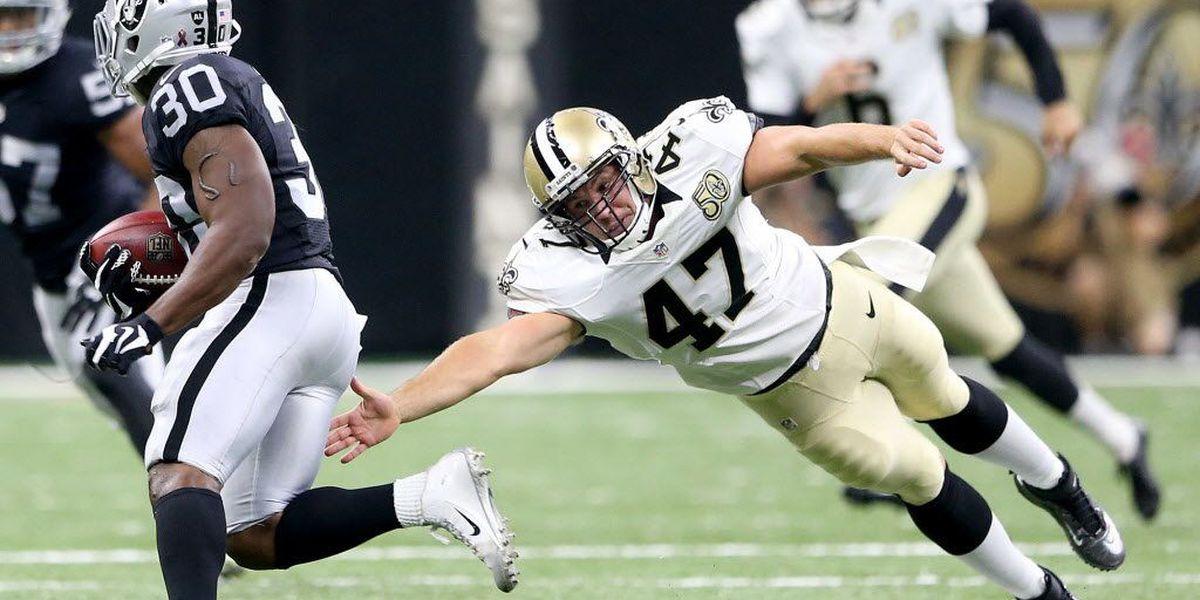 Justin Drescher reunites with the Saints