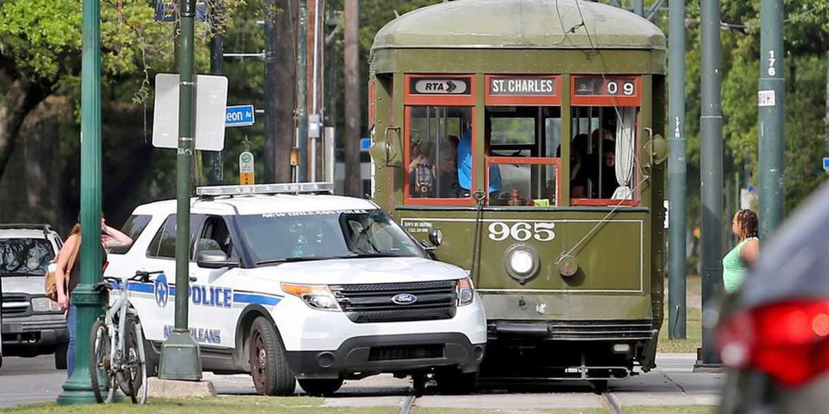 Report: Streetcar collides with NOPD cruiser