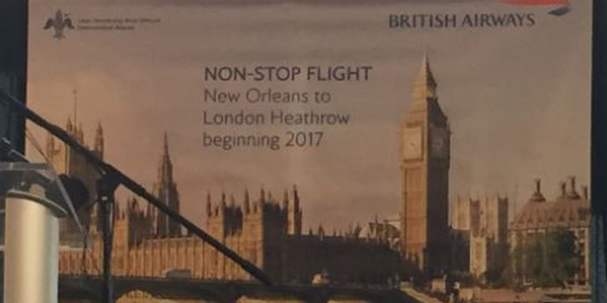 The British are coming ... and going: British Airways to fly nonstop from New Orleans to London