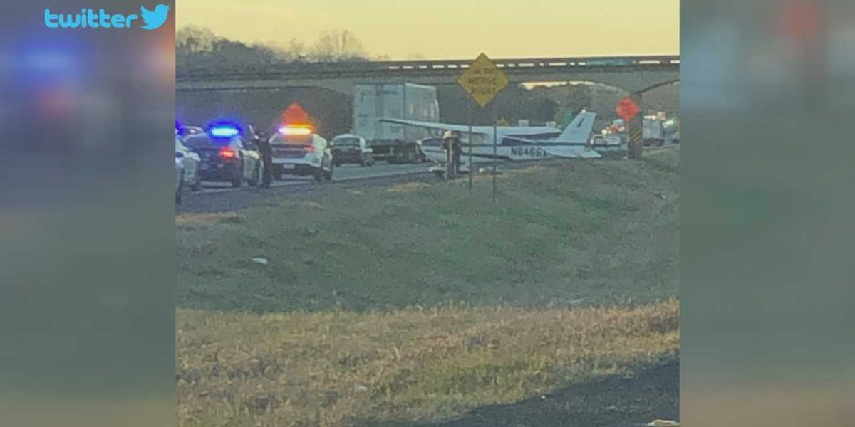 Plane makes emergency landing on I-20 in Talladega Co.