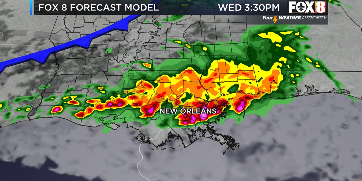 Zack: More storms today as the wet pattern continues