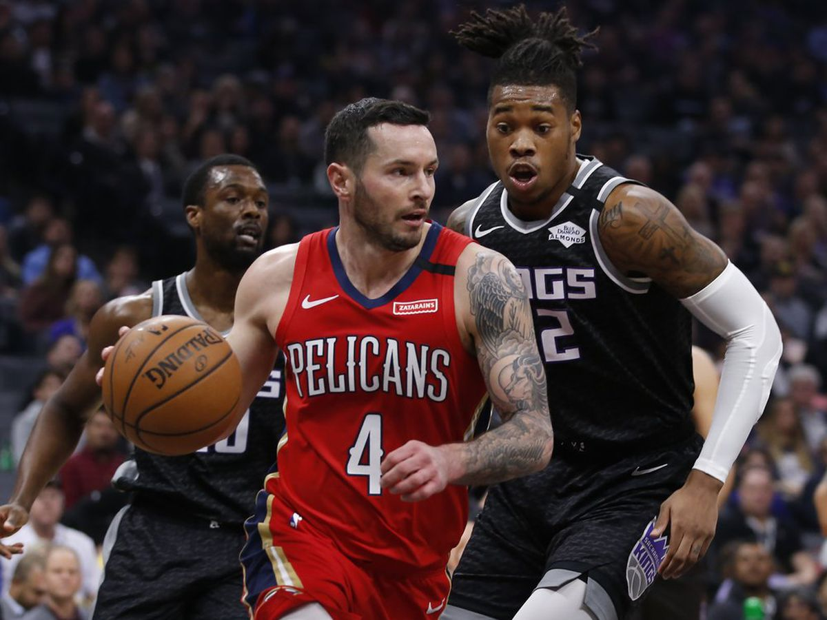 Redick's layup lifts Pelicans over Kings, 117-115