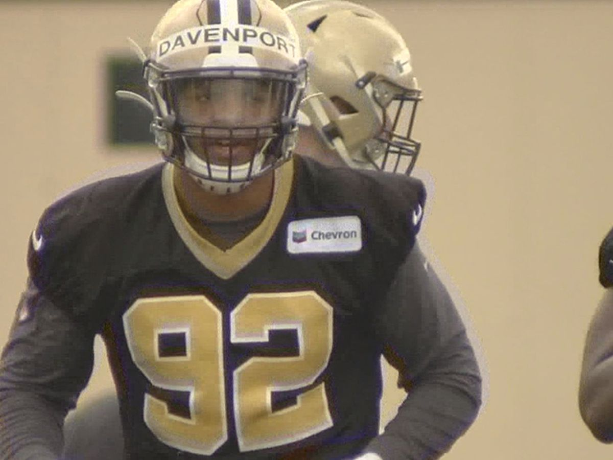 Marcus Davenport limited at Saints practice; Michael Thomas misses