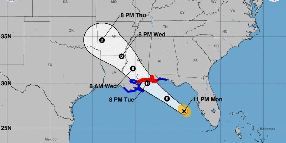 THE LATEST: Gordon to approach north-central Gulf late Tuesday