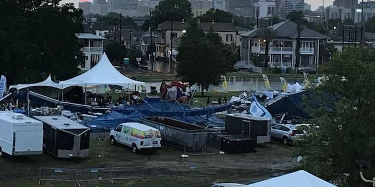 VIDEO: Bayou Boogaloo hard-hit by storm; officials warn people to avoid the area