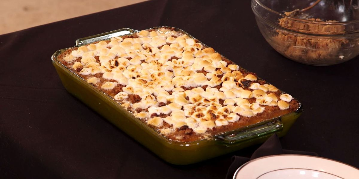 Baked Butternut Squash with 'Pillow' Topping