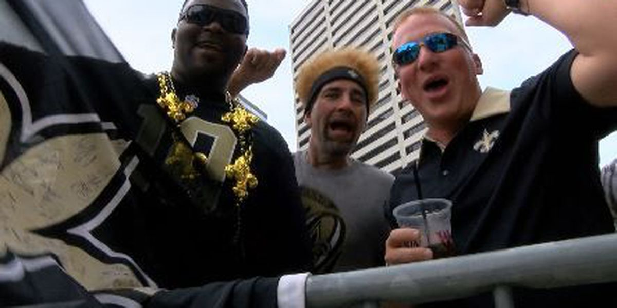 Saints fans eager to get back into the Mercedes Benz Superdome