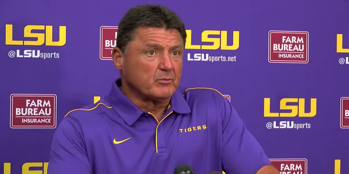 LSU FALL CAMP: Ed Orgeron News Conference - 8/15/2019
