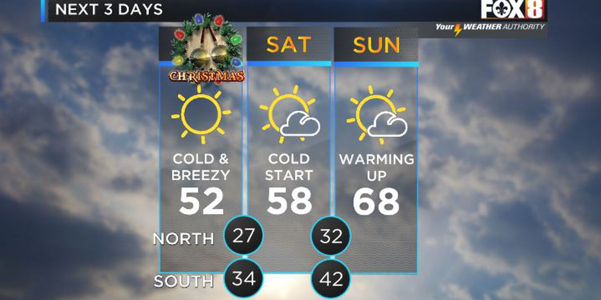 Shelby: Cold Christmas, then weekend warm-up