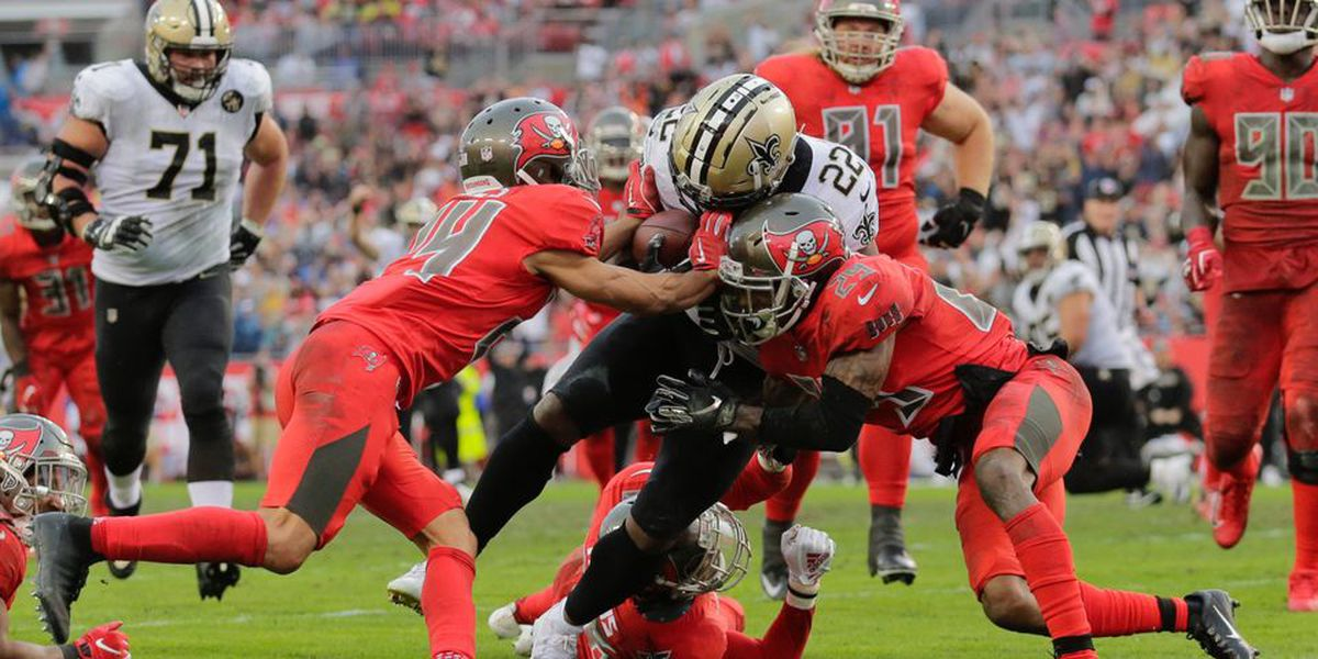 Mark Ingram ties Deuce McAllister's franchise TD rushing record in Tampa