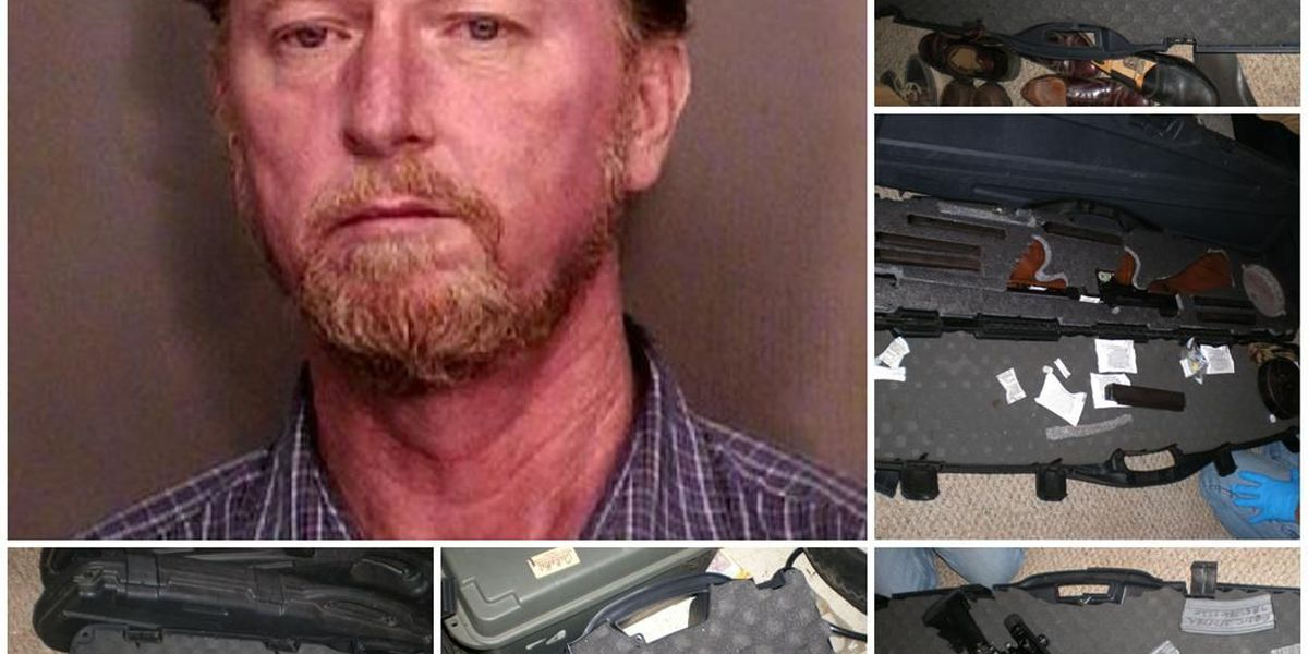 North Shore man booked on 17 counts of illegally having guns