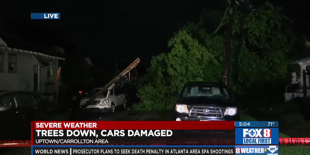 Storm damage in the Carrollton area