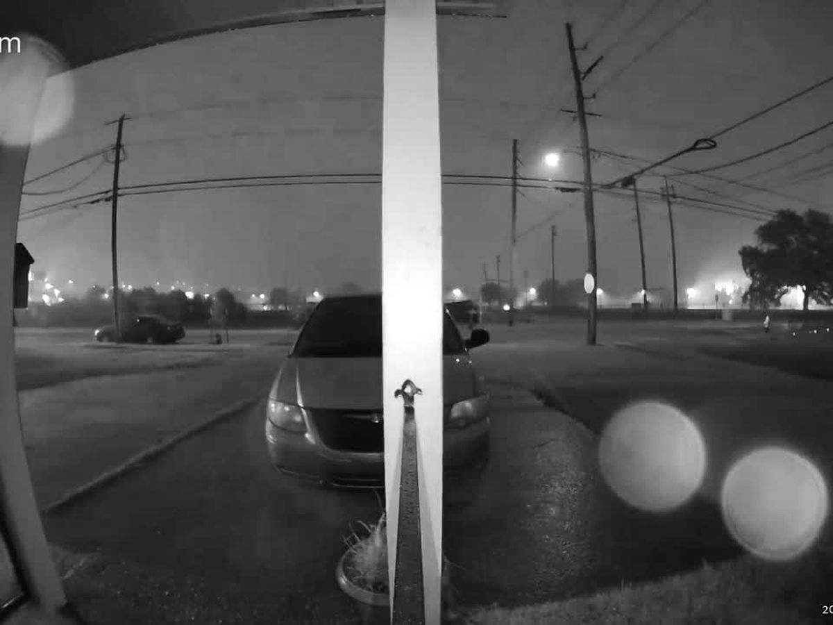 WATCH: Doorbell camera captures possible tornado in Algiers