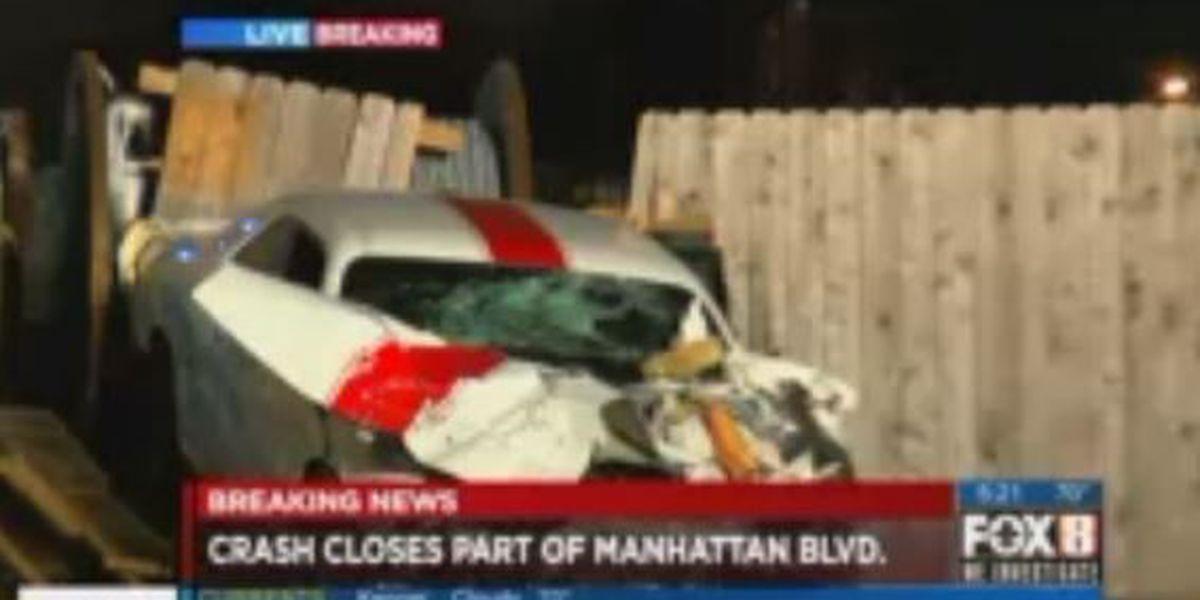 First Alert Traffic: Two vehicle crash on Manhattan Blvd., all lanes open