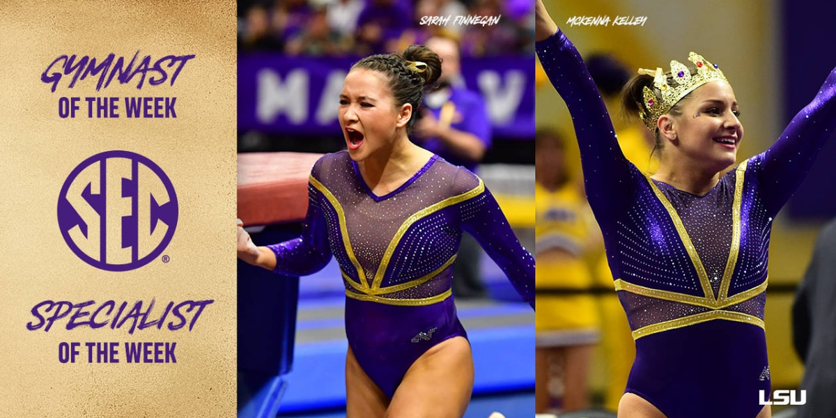 2 LSU gymnasts earn SEC Gymnast and Specialist Honors