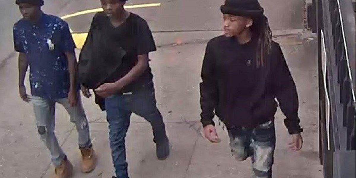 NOPD releases picture of 3 suspects wanted in connection with Mardi Gras double shooting