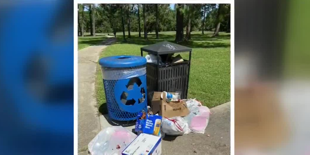 City Park: Please pick up your weekend trash