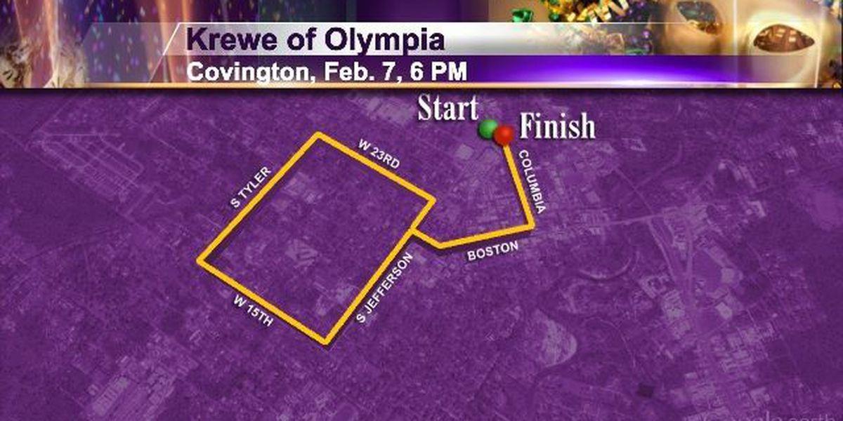 Sat 2/7 Covington 6pm Krewe of Olympia